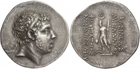 Kings of Pontus, Mithradates IV, circa 170/169 – 150. Tetradrachm, Sinope circa 169, AR 16.83 g. Diademed head r. Rev. ΒΑΣΙΛΕΩΣ / ΜΙΘΡΑΔΑΤΟΥ - ΦΙΛΟΠΑΤ...