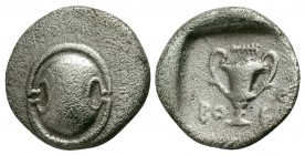 Boeotia, Federal Coinage, 395 - 340 BC, Silver Hemidrachm