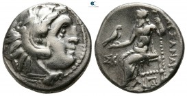 Kings of Macedon. Kolophon. Antigonos I Monophthalmos 320-306 BC. As Strategos of Asia. In the name of Alexander III. Struck circa 318-310 BC. Drachm ...