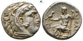 "Kings of Macedon. Kolophon. Alexander III ""the Great"" 336-323 BC. Struck under Antigonos I Monophthalmos. Drachm AR"