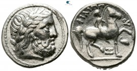 Eastern Europe. Mint in the middle Danube (Banat) region. Imitations of Philip II of Macedon circa 300-200 BC. Tetradrachm AR
