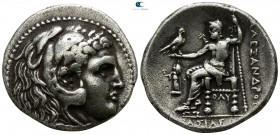 Kings of Macedon. Corinth. Demetrios I Poliorketes 306-283 BC. In the name and types of Alexander III. Struck circa 304/3-290 BC. Tetradrachm AR