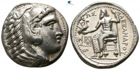 Kings of Macedon. 'Amphipolis'. Philip III Arrhidaeus 323-317 BC. In the name and types of Alexander III. Tetradrachm AR