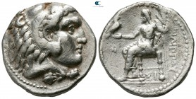 Kings of Macedon. Sidon. Philip III Arrhidaeus 323-317 BC. Struck under Laomedon. Dated RY 13 of Abdalonymos (321/0 BC). Tetradrachm AR