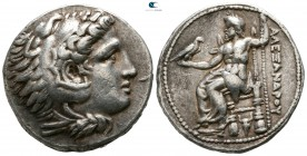 "Kings of Macedon. Pella. Alexander III ""the Great"" 336-323 BC. Early posthumous issue, circa 323-318 BC. Tetradrachm AR"
