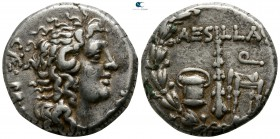 Macedon. Uncertain mint. Aesillas, quaestor 90-70 BC. Under Roman Protectorate. Struck circa 79-75 BC. Tetradrachm AR