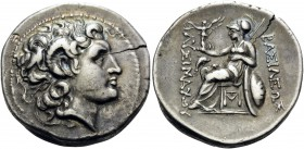 KINGS OF THRACE. Lysimachos, 305-281 BC. Tetradrachm (Silver, 29 mm, 16.82 g, 9 h), Sestos, c. 297/6-282/1. Diademed head of Alexander the Great to ri...
