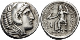 KINGS OF MACEDON. Alexander III 'the Great', 336-323 BC. Tetradrachm (Silver, 27 mm, 17.16 g, 10 h), struck during the reign of Philip III by the Rege...