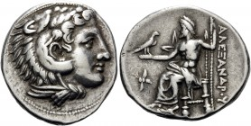 KINGS OF MACEDON. Alexander III 'the Great', 336-323 BC. Tetradrachm (Silver, 29 mm, 17.14 g, 3 h), struck by either the Regent Antipater or his son K...