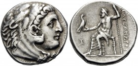 KINGS OF MACEDON. Alexander III 'the Great', 336-323 BC. Tetradrachm (Silver, 26 mm, 17.04 g, 3 h), struck by either the Regent Antipater or his son K...