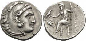 KINGS OF MACEDON. Alexander III 'the Great', 336-323 BC. Drachm (Silver, 17 mm, 4.17 g, 6 h), struck under Antigonos I Monophthalmos, Lampsakos, c. 32...
