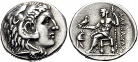 KINGS OF MACEDON. Alexander III 'the Great', 336-323 BC. Tetradrachm (Silver, 28 mm, 16.91 g, 12 h), struck between the reigns of Kassander and Antigo...
