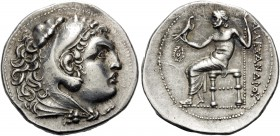 KINGS OF MACEDON. Alexander III 'the Great', 336-323 BC. Tetradrachm (Silver, 29 mm, 17.08 g, 12 h), uncertain mint in western Asia Minor, c. 240-180....