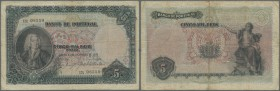 Portugal: 500 Reis 1909 P. 104, folded but no holes or tears, normal traces of use, condition: F.