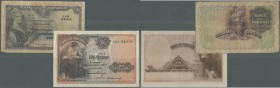 Portugal: set of 2 notes containing 20 Centavos 1920 P. 112b (F to F-) and 1 Escudo 1917 P. 113a (VF- with crisp paper and original colors). Nice set....