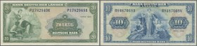3er Lot: 2x 20 DM 1949 in EH II, und 1x 10 DM 1949 in EH IV.