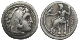 Kings of Macedon, Philip III (323-317 BC). AR Drachm (18mm, 4.08g, 12h). Magnesia ad Maeandrum, in the name of Alexander III, c. 323-319 BC. Head of H...