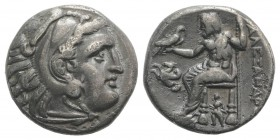 Kings of Macedon, Antigonos I Monophthalmos (Strategos of Asia, 320-306/5 BC, or king, 306/5-301 BC). AR Drachm (15mm, 4.12g, 1h). In the name and typ...