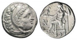 Kings of Macedon, Antigonos I Monophthalmos (Strategos of Asia, 320-306/5 BC, or king, 306/5-301 BC). AR Drachm (17mm, 3.91g, 1h). In the name and typ...