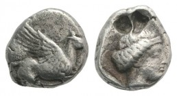 Corinth(?), c. 350-300 BC. AR Drachm (11mm, 2.62g, 3h). Pegasos flying r. R/ Head of Aphrodite r., wearing stephanos. BCD Corinth -. Metal flaws, Good...