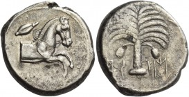 The Carthaginians in Italy, Sicily and North Africa. Tetradrachm, Carthago or Lilybaion circa 410-392, AR 16.13 g. [qrt – h – dst] in Punic characters...