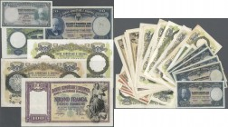 Albania: set of 38 notes containing 1x 5 Franka ND(1926) P. 2b (VF), 7x 20 Franka ND(1926) P. 3 (F+ to VF), 3x 5 Franga ND(1939-40) P. 6 (VF & XF), 10...