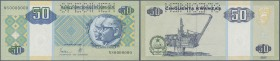 Angola: 50 Kwanzas 1999 Specimen P. 146as with zero serial numbers, Specimen perforation in condition: UNC.