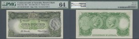 Australia: 1 Pound ND(1961-65) P. 34a, condition: PMG graded 64 Choice UNC.