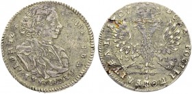 RUSSIAN EMPIRE AND FEDERATION. Peter I, 1682-1725. Tynf 1707, Kadashevsky Mint, IL-L. 5.90 g. Bitkin 3789 (R1), Diakov 256 (R2). 15 roubles according ...