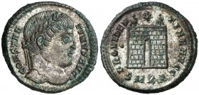(327-328 d.C.). Constantino I. Cyzicus. AE 19. (Spink 16264) (Co. 454) (RIC. 51). 3,12 g. EBC+.