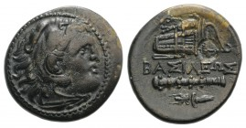 Kings of Macedon, temp. Philip III – Antigonos I Monophthalmos, c. 323-310 BC. Æ Unit (20mm, 5.31g, 9h). Uncertain mint in western Asia Minor. Head of...
