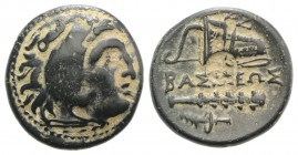 Kings of Macedon, temp. Philip III – Antigonos I Monophthalmos, c. 323-310 BC. Æ Unit (20mm, 5.48g, 3h). Uncertain mint in western Asia Minor. Head of...