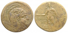 Pontos, Komana, c. 105-90 or 90-85 BC. Æ (30mm, 19.28g, 1h). Helmeted head of Athena r. R/ Perseus standing, facing, holding harpa and head of Medusa,...