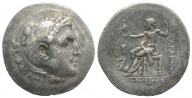 Aeolis, Kyme, c. 188-170 BC. AR Tetradrachm (36mm, 15.80g, 12h). In the name and types of Alexander III of Macedon. Dionysios, magistrate. Head of Her...