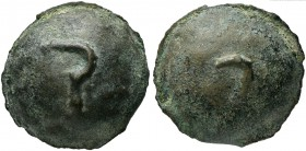 Central Italy, Uncertain mint, Cast Semis, 3rd century BC; AE (g 131; mm 43; h 9); Sickle, Rv. U. HNItaly -; AG -; TV -; Haeberlin -; ICC 266 (this co...