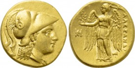 KINGS OF MACEDON. Alexander III 'the Great' (336-323 BC). GOLD Stater. Miletos.