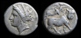 CAMPANIA, Neapolis, c. 290-270 BC, AR Didrachm. 7.12g, 19.5mm.
