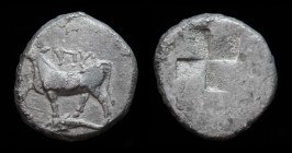 THRACE, Byzantium, c. 340-320 BCE (dated by Schonert-Geiss to c. 411- 387/6 BCE). AR drachm, 5.10g, 17.5mm.