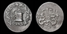 IONIA, Ephesos, dated CY 34 (101/100 BC), AR Cistophoric Tetradrachm. 27.5mm, 12.65 g.