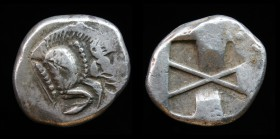 DYNASTS of LYCIA: Uncertain dynast, c. 520-470/60 BCE, AR Stater. 7.63g, 20mm.