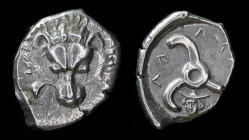 DYNASTS OF LYCIA: Perikles (c. 380-360 BC), AR 1/3 Stater/tetrobol. 3.11g, 19mm.