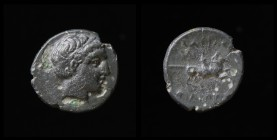 KINGS OF MACEDON: Philip III Arrhidaios (323-317 BCE), AE Quarter Unit, issued 323-319 BCE under Asandros. Miletos, 12mm.
