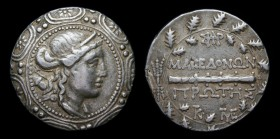 MACEDON UNDER ROMAN PROTECTORATE, First Meris c.167-148 BCE, AR Tetradrachm. Amphipolis, 16.39g, 30mm.