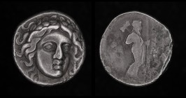 CARIA, Maussolos (Satrap), 377-352 BCE, AR drachm. 3.50g, 14mm.
