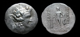 Danubian Celts, Imitating Thasos, 2nd-1st centuries BCE, AR tetradrachm. 16.70g, 33mm.