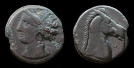 CARTHAGE, c. 300-264 BCE, Æ Shekel. 5.15g, 19mm.