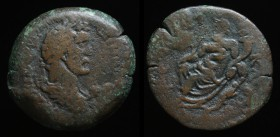 EGYPT, Alexandria: Antoninus Pius (138-161), AE Drachm, issued 147/8 23.07g, 35.2mm. Obv: Laureate, draped and cuirassed bust right.  Rev: Nilus seate...