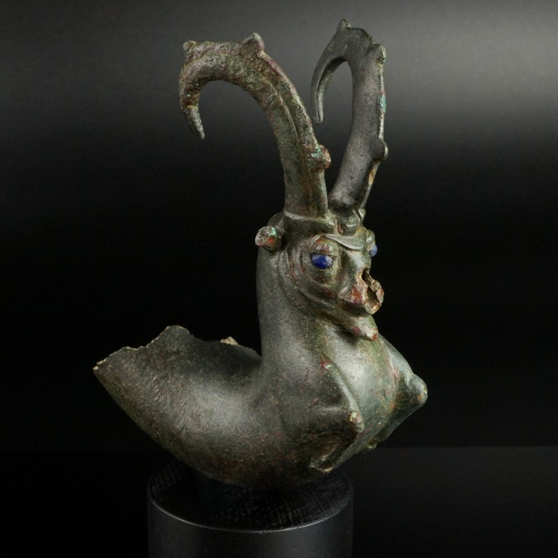 Achaemenid Bronze Ibex Rhyton