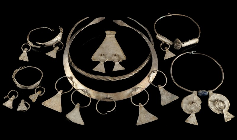 Lage Iron Age Silver Jewellery Set