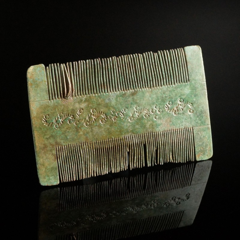 Medieval Bronze Comb